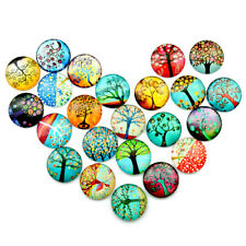 10pcs Glass Round Cabochons Mosaic Supplies Handcrafted Tiles for Jewelry Making
