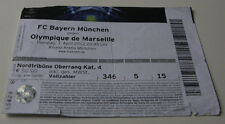 old ticket  CL Bayern Munchen Olympique Marseille OM 2012 Germany France