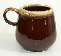 McCoy USA Brown Drip Mug Cup Barrel Shape Vintage Pottery Antique Flawless EUC