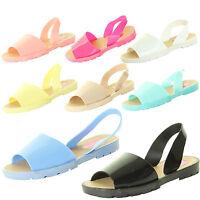Womens Ladies Girl Summer Sandal Beach Mules Sliders Flip Flops Jelly Flat Shoes