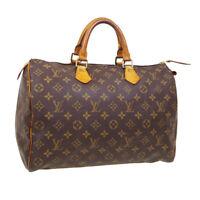 LOUIS VUITTON SPEEDY 35 HAND BAG SP0948 PURSE MONOGRAM CANVAS M41524 31317