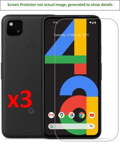 3x Google Pixel 4a Screen Protector w/ cloth
