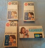 Vintage GE Sylvania Blue Dot M3B Flash Bulb Lot 24 Bulbs New Orginal Boxes