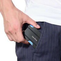 Men RFID Blocking ID Credit Card Holder Slim Money Travel Metal Wallet Case