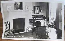 Rppc Postcard Dr. Samuel Johnson English Writer House England Uk Real Photo