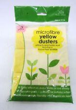 Detergenti e panni per la polvere gialli per la pulizia e il bucato