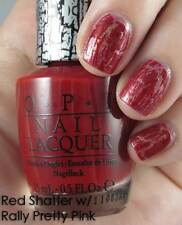 NEW! OPI Nail Polish Vernis RED SHATTER ~ Opaque Red Crackle-effect