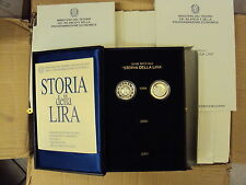 ITALIA REPUBBLICA 1999 DITTICO STORIA DELLA LIRA 1° SERIE FONDO SPECCHIO/PROOF