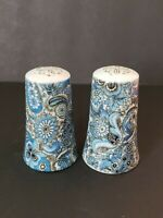 Limoges salt and pepper blue and white vintage early 1980s