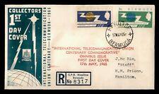 DR WHO 1965 BERMUDA FDC INTL TELECOMMUNICATION UNION CENTENARY C214881