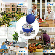 """Ts-S300E 1"""" Inch Water Meter,Pulse Output,Measured in stere + couplings"""