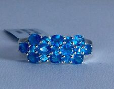 Size 7 Madagascar Neon Apatite Sterling Silver Ring TGW 2.16 carats