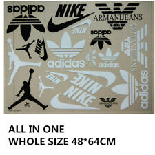 LOTS MIX NIKE adidas FILA LOGO STICKERS IRON ON HEAT TRANSFER PATCHES FOR CLOTH