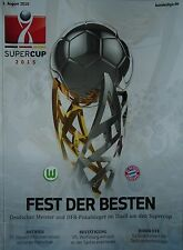 Programm Supercup 2015 VfL Wolfsburg - Bayern München