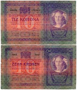 Hungary 10 Korona/Kronen P#9 (1904) Osztrák-magyar Bank VF