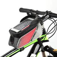 """Borsa Borsetta TUBO anteriore impermeabile Porta Cellulare 6.2""""Bici Ciclismo Bag"""