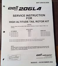 Bell Helicopter 206L4 High Altitude Tail Rotor Kit Service Manual