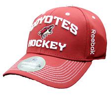New Arizona Coyotes Reebok Center Ice Hockey Locker Room Flexfit Hat S/M _B104