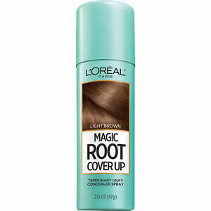 L'Oréal Paris Magic Root Cover Up Temporary Grey Concealer Spray 2oz Light Brown