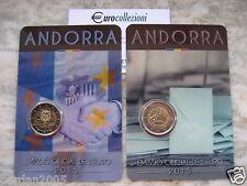 ANDORRA 2015 2 EURO COPPIA COINCARD ACCORDO UE + MAGGIOR ETA' 18 ANNI ANDORRE