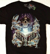 "Dark Magic Reaper  "" STUDDED "" Tee shirt  2 sided print  LG 42""-44"" RCST 005"