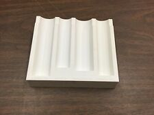 White Coin Counter Stacking Wrap Device Change Organizer Penny Quarter Sorter