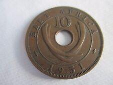 Z6  pièce de monnaie ancienne afrique de l est 1951