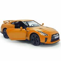 Nissan GTR R35 Sports Car 1:36 Model Car Diecast Toy Collection Pull Back Orange