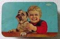 Vintage Morton Confectionery Ad. Handsome Boy Print Litho Tin Box collectible