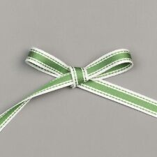 """Stampin' Up! Garden Green 3/8"""" Double Stitched Ribbon (Retired) - NEW"""