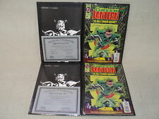 Green Lantern #50 LOT 2 Copies! Darryl Banks Ron Marz Signed! COA Comics (10497)