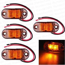 4Pcs 12V 24v LED Side Marker Amber Indicators Lights Rear Truck Bus Trailer Lamp