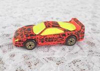 1988 Matchbox Ferrari F40 Diecast Car Scale:1:59 Very Good Condition Camo Orange