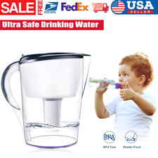 4 Stages Large 3.5L BPA Water Pitcher Jug Water Purifier Filtration 15 Cup