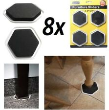 8x Furniture Sliders Move Glides Heavy Appliance Floor Protector from Scratches