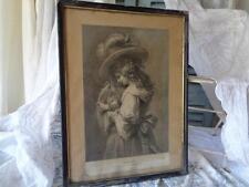 Gran s t i c h jeune mère * French Shabby * gravure Pannemaker 1822-1900