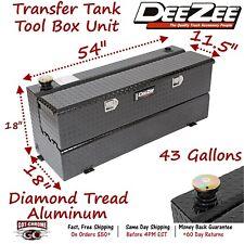 DZ92740B Dee Zee Aluminum Truck Fuel Transfer Tank Toolbox Combo - Low Profile