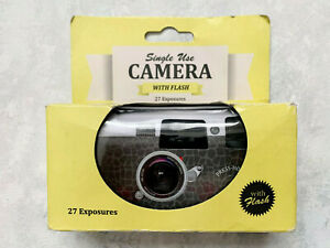 Single Use Camera With Flash 27 Exposures Vintage Theme Packaging Brand New