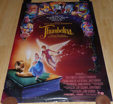 THUMBELINA 1994 ORIGINAL ROLLED DS 1 SHEET MOVIE POSTER DON BLUTH BARRY MANILOW