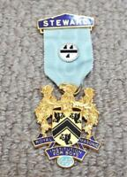 Royal Masonic Institution for Boys 1969 Steward Breast Jewel / Medal -Freemasons