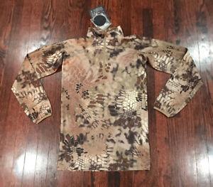 NWT$100 Mens Kryptek Valhallacamo Shirt Zip Neck Long Sleeve XS
