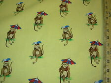 """~BTY~SUBURBAN~ """"MONKEYS"""" ANIMAL~100% COTTON UPHOLSTERY FABRIC~FABRIC FOR LESS~"""