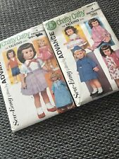 Simplicity Chatty Cathy Doll Sewing Patterns Partly Cut Exc