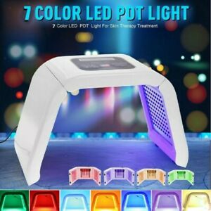 7 Colors PDT LED Photon Therapy Face Neck Mask Rejuvenation Home Use Salon