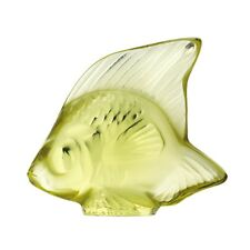 LALIQUE SUN YELLOW FISH SCULPTURE BRAND NEW IN BOX #3002400 CRYSTAL PARIS SAVE$