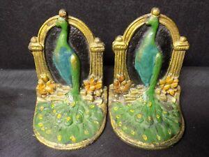 Vintage Art Deco Peacock Bookends
