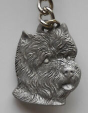West Highland Terrier Dog Pewter Key Chain, Rawcliffe Company