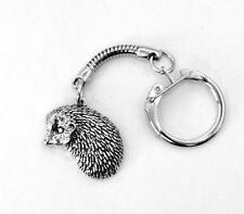 Hedgehog Key-Ring (keychain) in Fine English Pewter, Handmade (th) Keyring