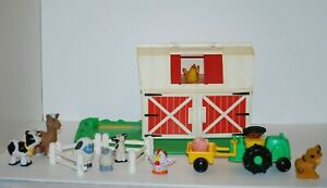 Vintage Fisher Price Little People 1990 Barn Farm + More