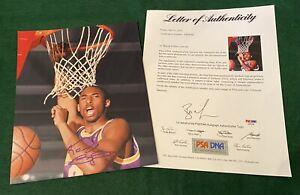 KOBE BRYANT #8 Signed 8x10 Photo Autograph PSA/DNA LOA MAMBA LA LAKERS Signature
